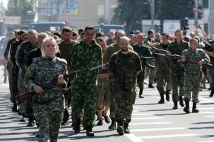 Пленные в Донецке. Позор россии